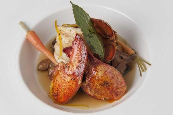Spice-roasted lobster is served at Bridgehampton's Topping Rose