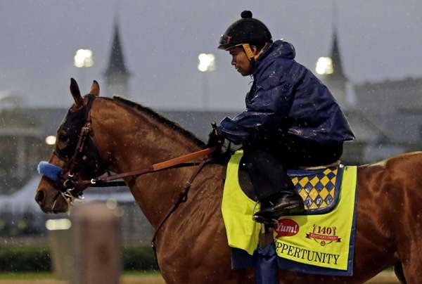 Jockey Martin Garcia takes Kentucky Derby hopeful Hoppertunity