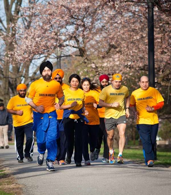 Sikh runners train at Cunnigham Park in Fresh