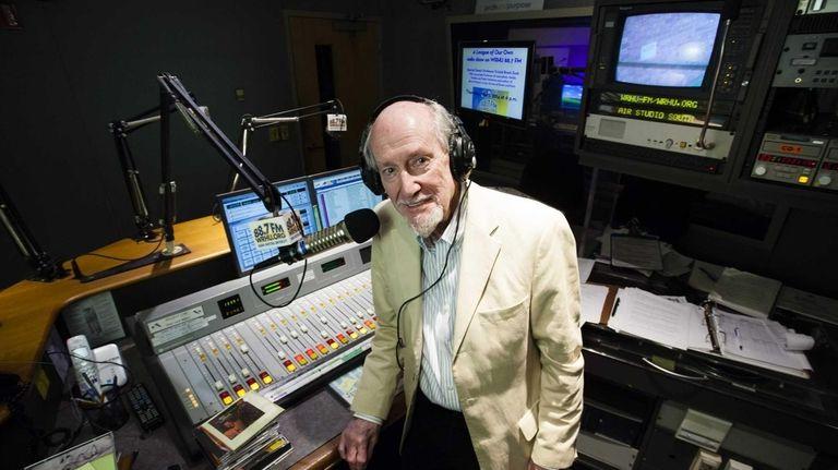 """Jazz Cafe"" host John Bohannon in the studios"