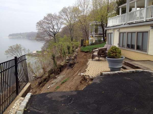 Heavy overnight rain caused a mudslide on Bay