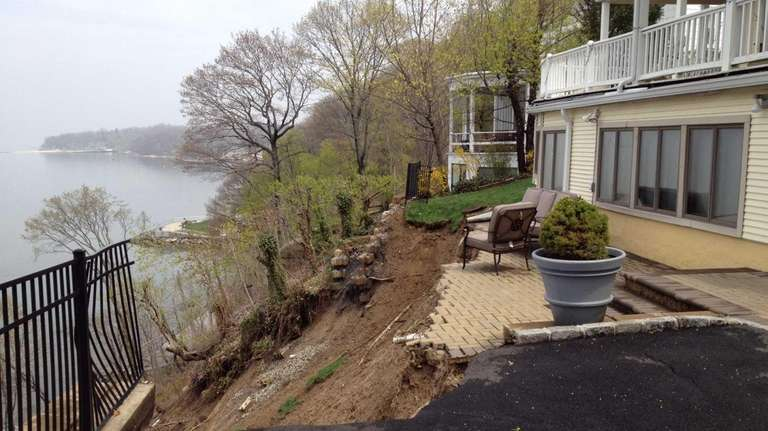 Heavy overnight rain caused a mudslide on Bay