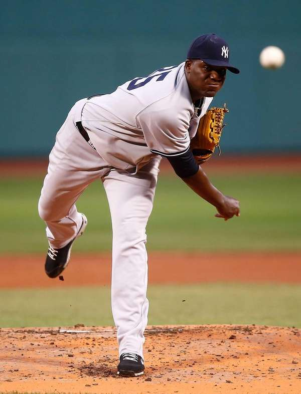 Michael Pineda delivers a pitch during the first