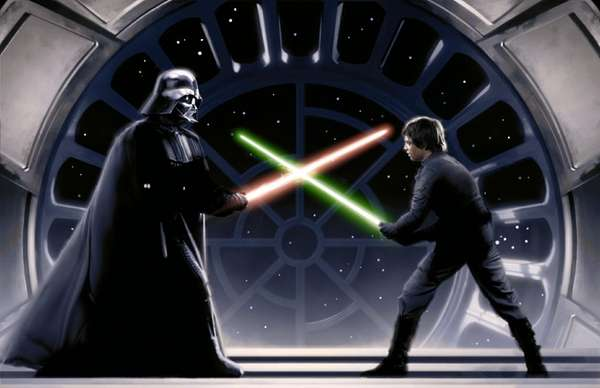 Darth Vader on the Death Star in