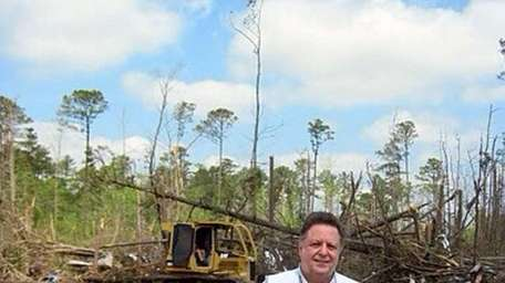 Roy Burnham, a Red Cross volunteer, seen here