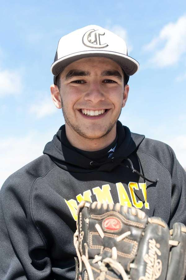 Commack pitcher Jordan Deitch poses during practice on