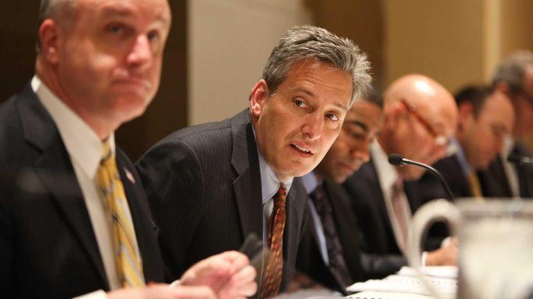NIFA Chairman Jon Kaiman looks on during the