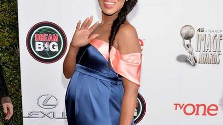 Actress Kerry Washington attends the 45th NAACP Image