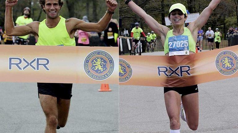LI marathon winners William Schefer, 23, from Old