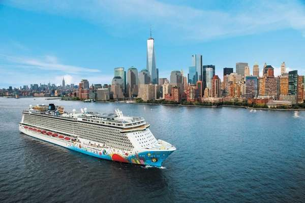 Norwegian Cruise Line's Norwegian Breakaway ship makes a