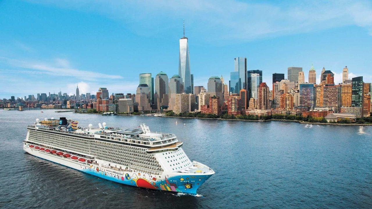 Norwegian Cruise Line's Norwegian Breakaway ship makes a