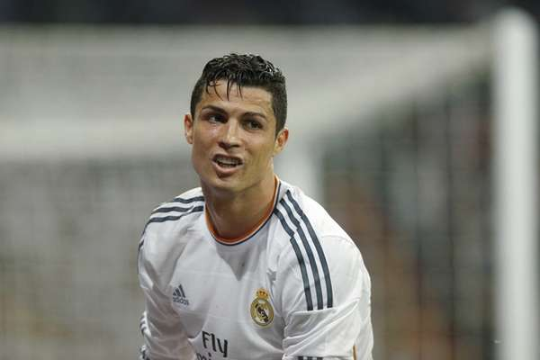 Real Madrid's Cristiano Ronaldo looks on during a