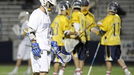 Hofstra attacker Sam Linares reacts against Drexel in