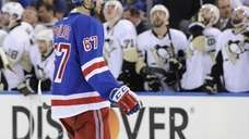 New York Rangers left wing Benoit Pouliot skates