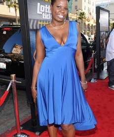 Leslie Jones arrives at the premiere of Warner