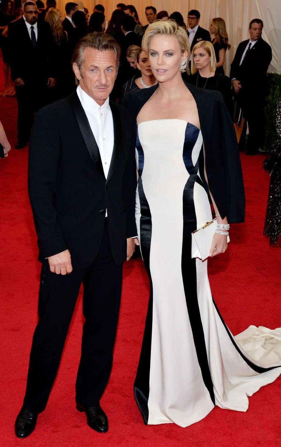 Sean Penn and Charlize Theron, in Dior Haute