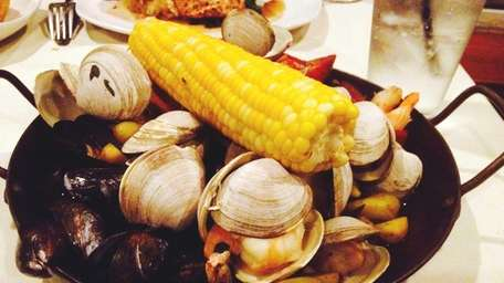 A clambake is among the main courses at