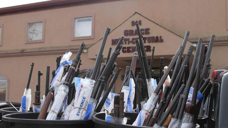 A total of 330 guns were collected at
