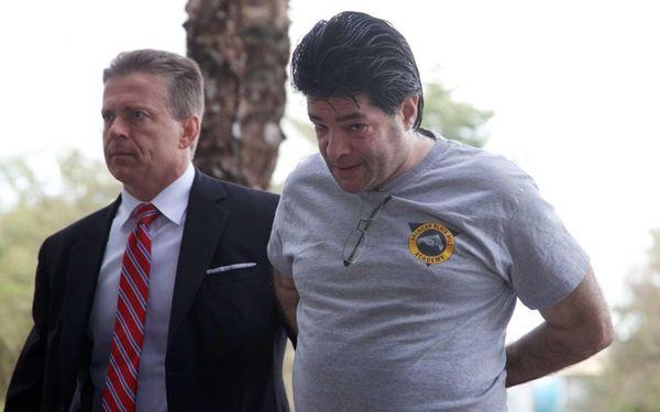 Aaron Wider is taken into custody on Tuesday,