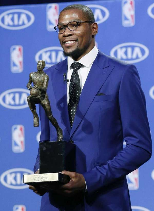 Oklahoma City Thunder's Kevin Durant poses with the