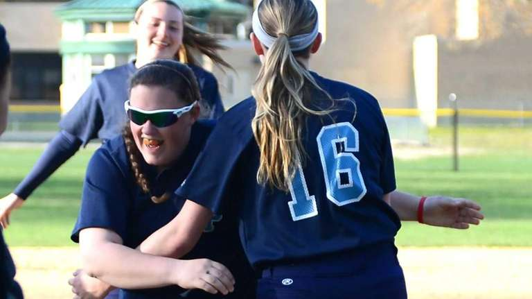 Rocky Point's Kelly Fitzpatrick, left, and Annie Kennedy