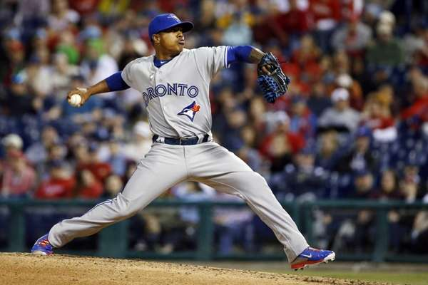 Toronto Blue Jays' Marcus Stroman pitches during the