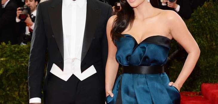 "Kanye West and Kim Kardashian attend the ""Charles"