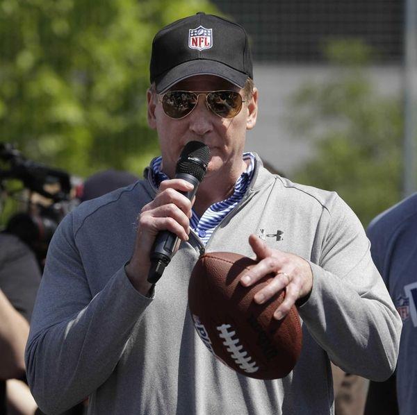 NFL Commissioner Roger Goodell speaks during an NFL