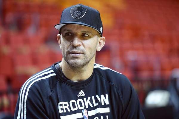Jason Kidd looks on during a shootaround at