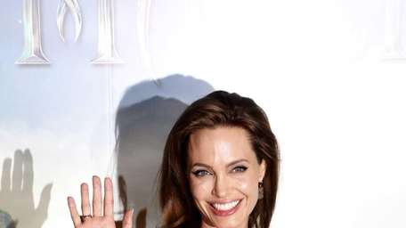 Angelina Jolie at a press presentation of the