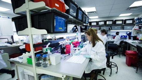 A Chembio Diagnostics facility in Medford on Feb.