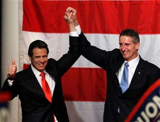 New York Gov.-elect Andrew Cuomo and Lt. Gov.-elect