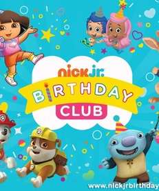 By joining the Nick Jr. Birthday Club, kids