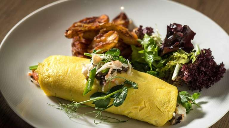 The Walrus, a three-egg omelette with peekytoe crab,