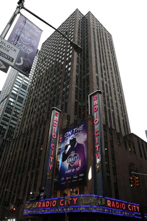 A general view outside Radio City Music Hall