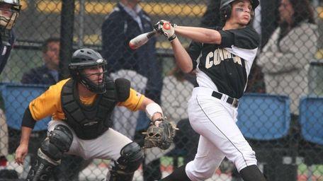 Jessie Berardi of Commack launches a two-run home