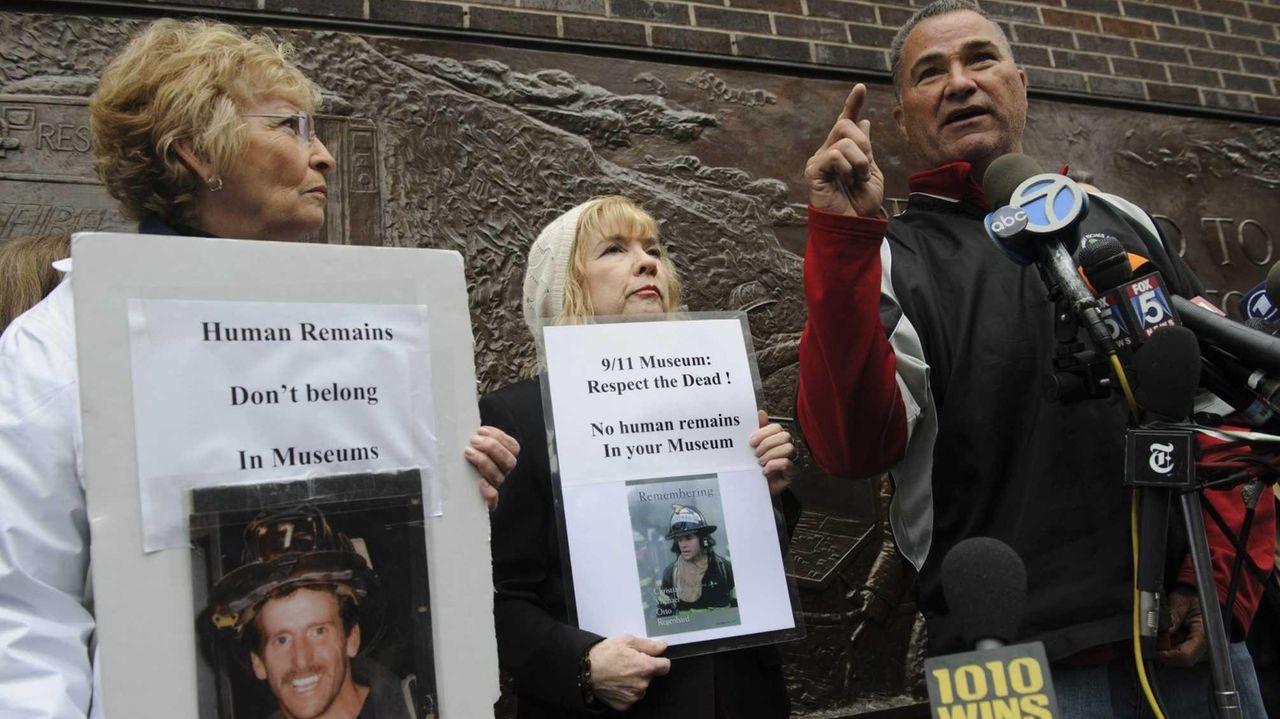 (L-R) 9/11 victim family members Rosemary Cain, Sally