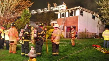 East Northport firefighters responded to a Grover Lane