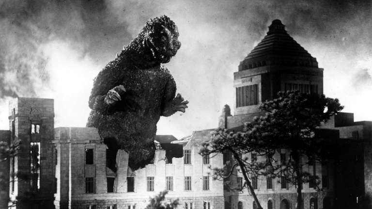 Godzilla in a terrifying scene from his