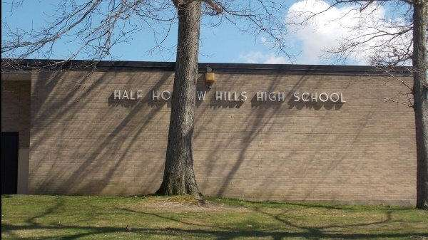 Half Hollow High School in Dix Hills.