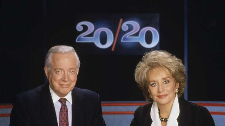 Hugh Downs and Barbara Walters on the set