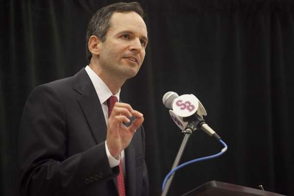 Shawn Heilbron, Stony Brook's new athletic director, is