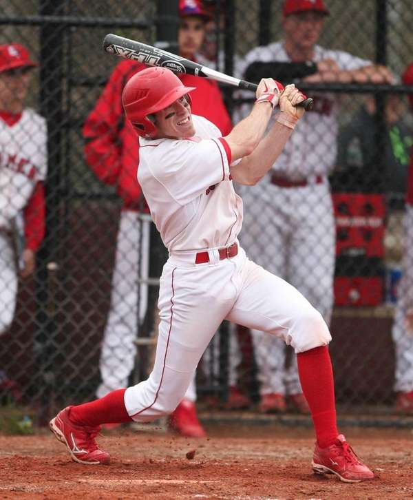 Jared Vuolo of East Islip hits a double