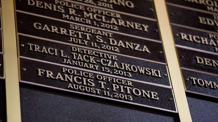 The names of some of the 13 fallen