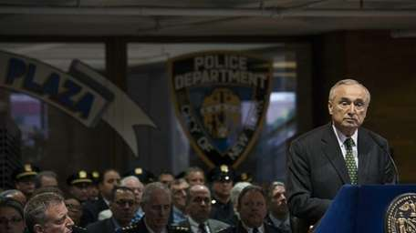 NYPD Commissioner William Bratton speaks at One Police