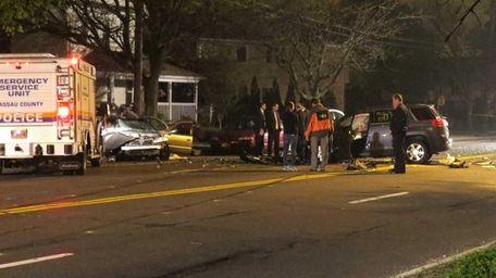 Nassau and Suffolk police respond to the scene