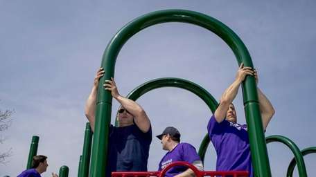 Members of Friends of Freeport and Alexandra's Playground