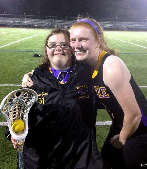 Sayville junior Meg LaBelle and her best friend,