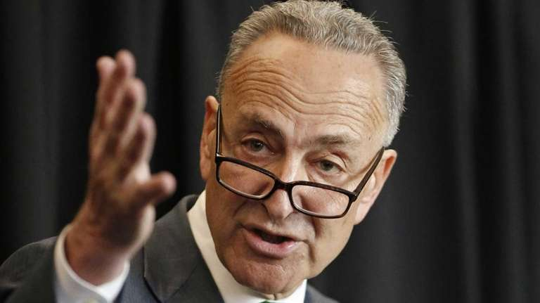 U.S. Sen. Charles Schumer, D-New York, takes questions,