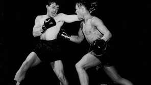 Legendary boxer Rocky Graziano, left, was a middleweight